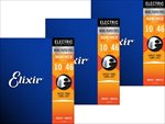 3個セット エリクサー ELIXIR .010-.046 ライト Light Ultra-Thin NANOWEB Coating/Anti-Rust 12052