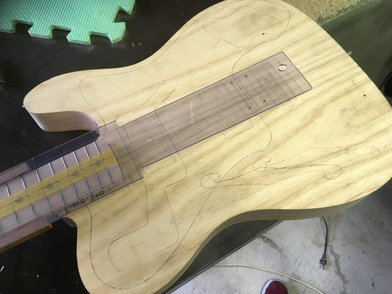 山ちゃんのギター製作記  テレデラ?ジャズマス? #1