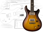 PRS McCarty tremolo スタイル製図